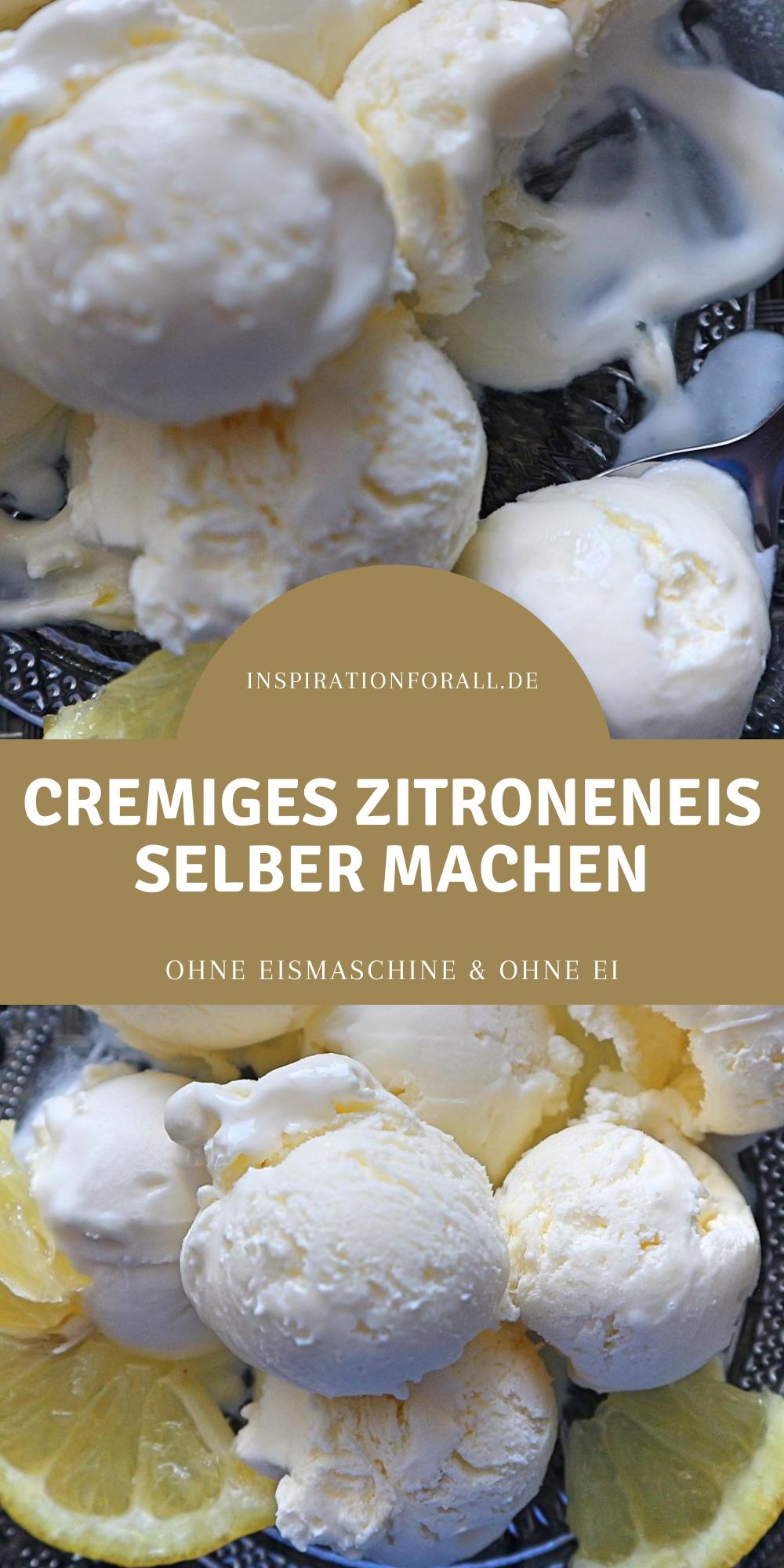 Photo of Zitroneneis selber machen – sehr cremig & ohne Ei, einfaches Rezept