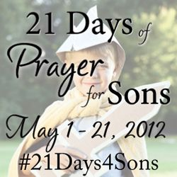 Change the world. Pray for your sons! We start soon!  And grandsons