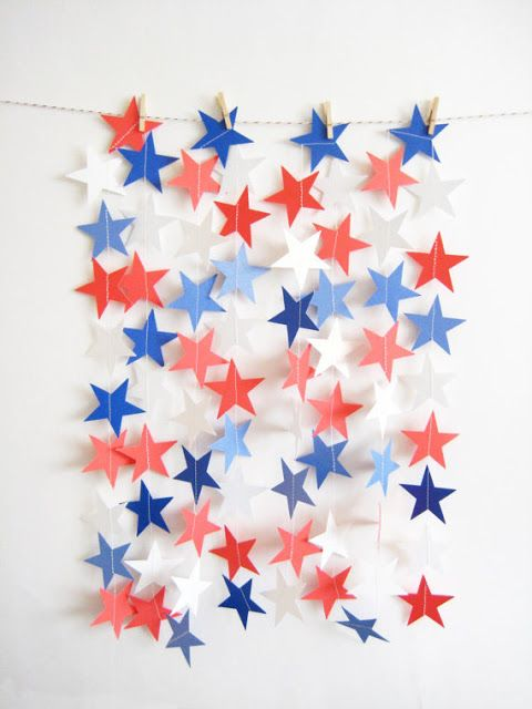 Image result for 4th of july star garland