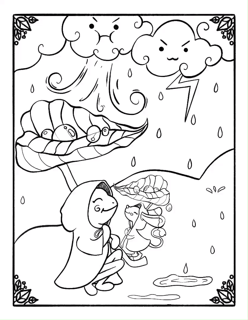 Rainy Days Coloring Book Page Preview