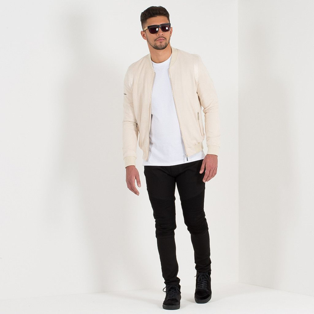 Suede Satin Bomber Jacket Beige Mens Bomber Jacket Outfit White Bomber Jacket Outfit Bomber Jacket Outfit [ 1024 x 1024 Pixel ]