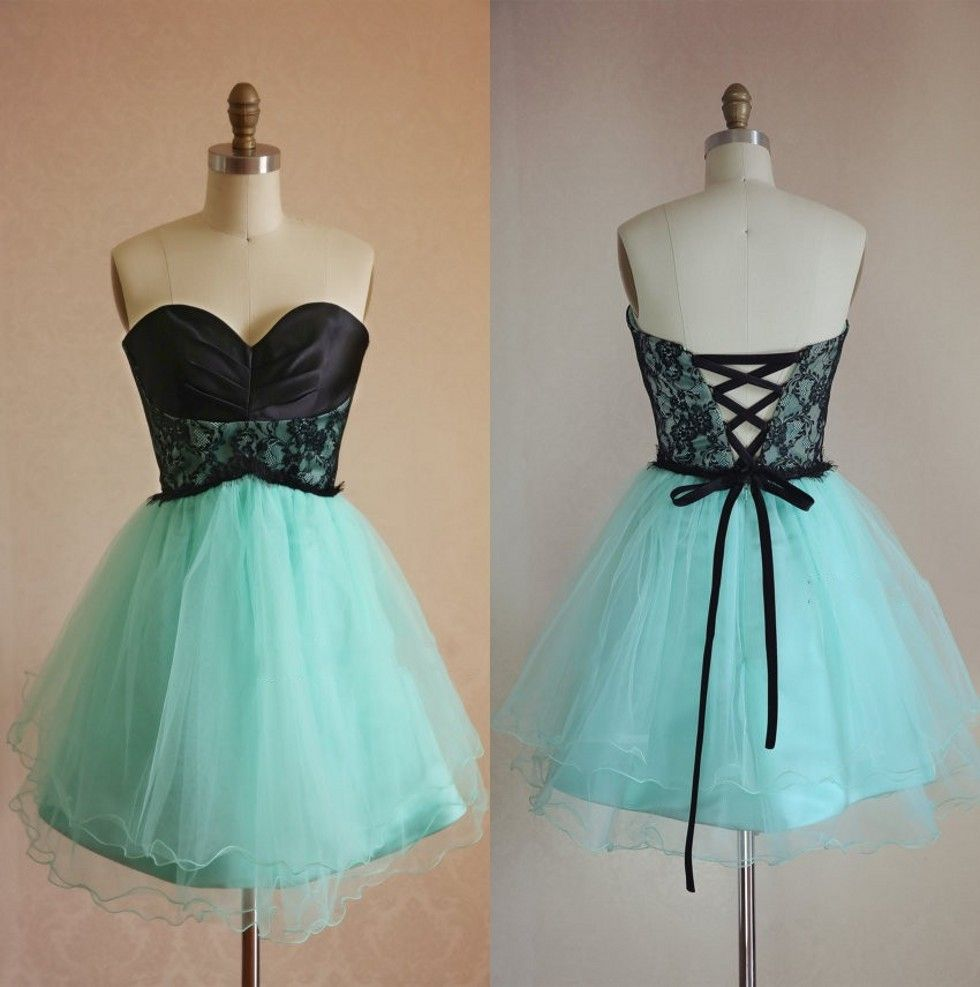Tulle Party Dress,Mini Mint Green H | Green homecoming dresses