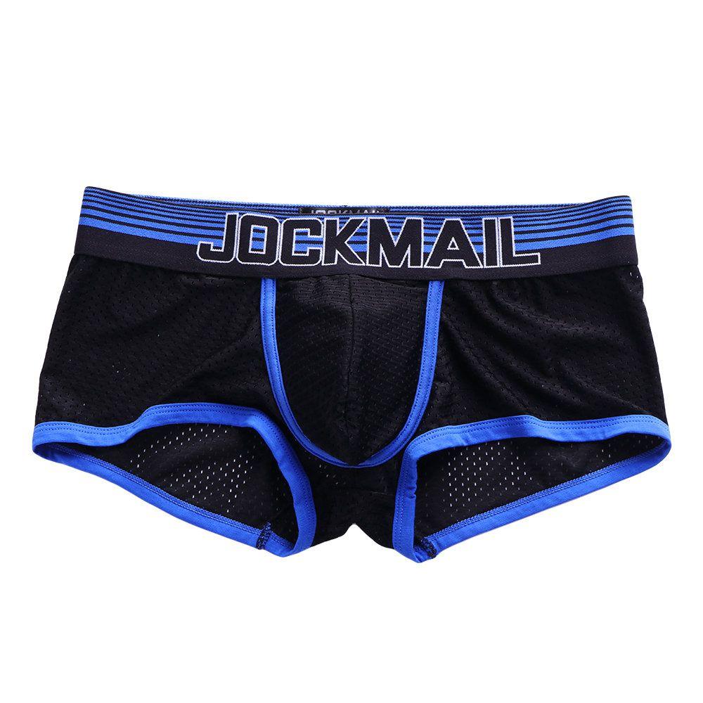 3647283fd1 jockmail Elegante color hechizo bolsa de malla Boxer elástico Cinturón ropa  interior fina transpirable para hombres