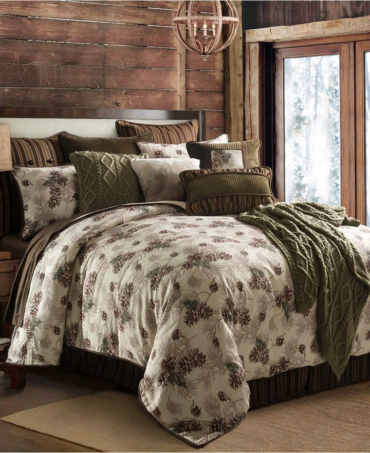 HiEnd Accents Forest Pine 3-Pc Twin Comforter Set & Reviews - Bed in a Bag - Bed & Bath - Macy's