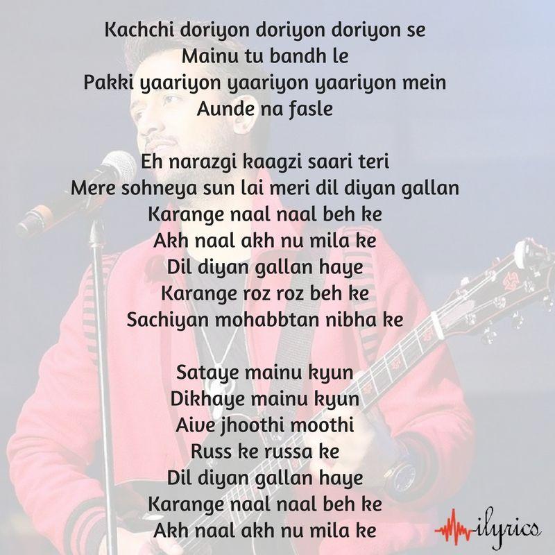 Lyric much more lyrics : dil diyan gallan lyrics | Latest Songs | Pinterest | Songs, Lyric ...