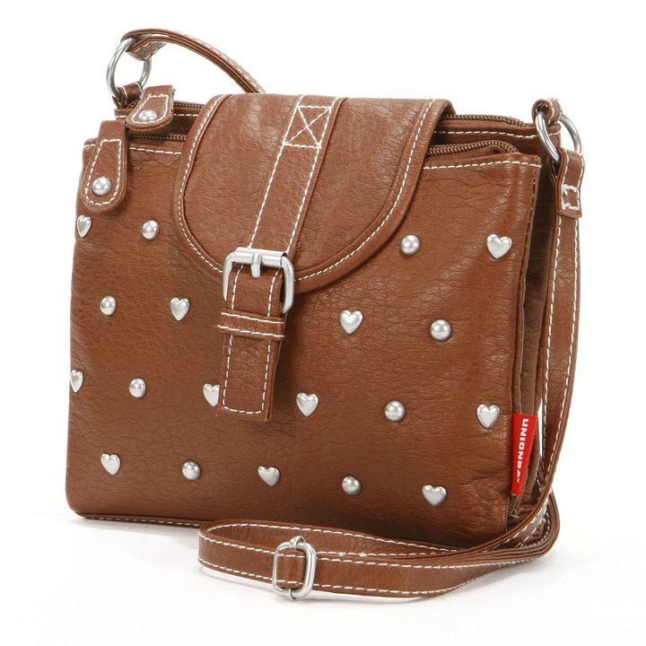 UNIONBAY studded hearts crossbody bag on shopstyle.com  a9eeaeb3147cc