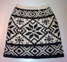 Зимняя юбка с норвежским узором.