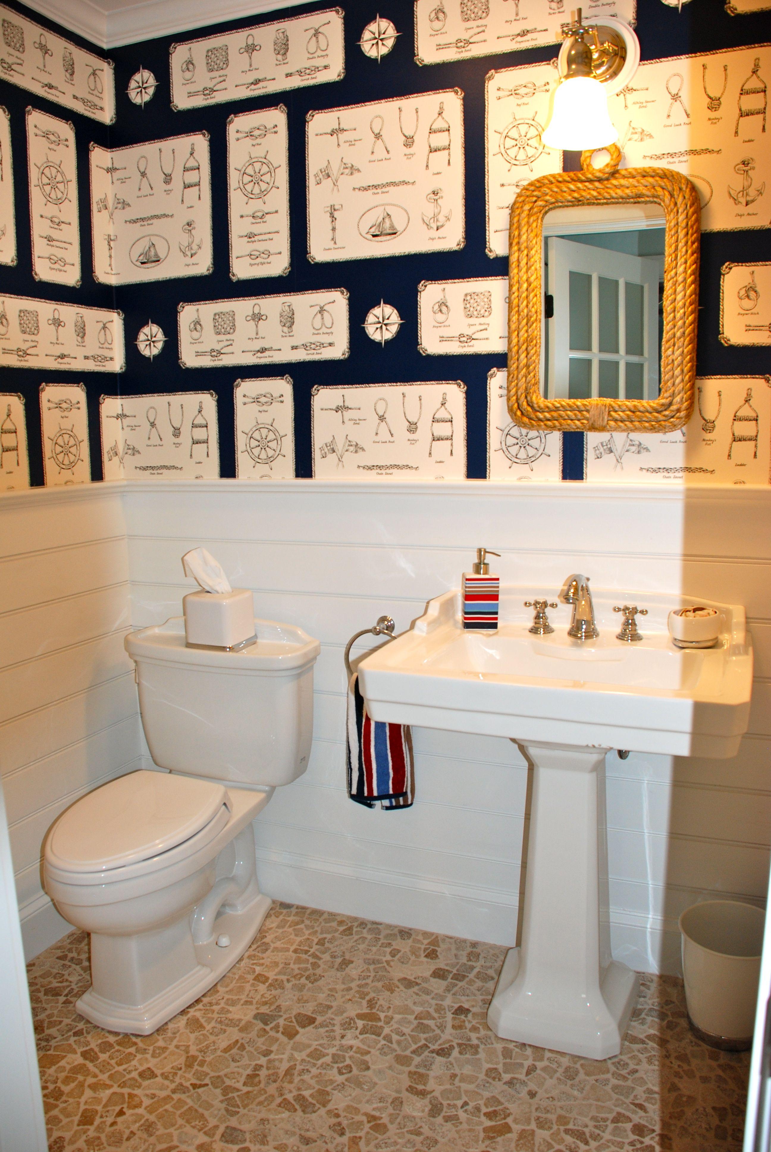 Ralph Lauren Sailing Knots Wallpaper Bathroom