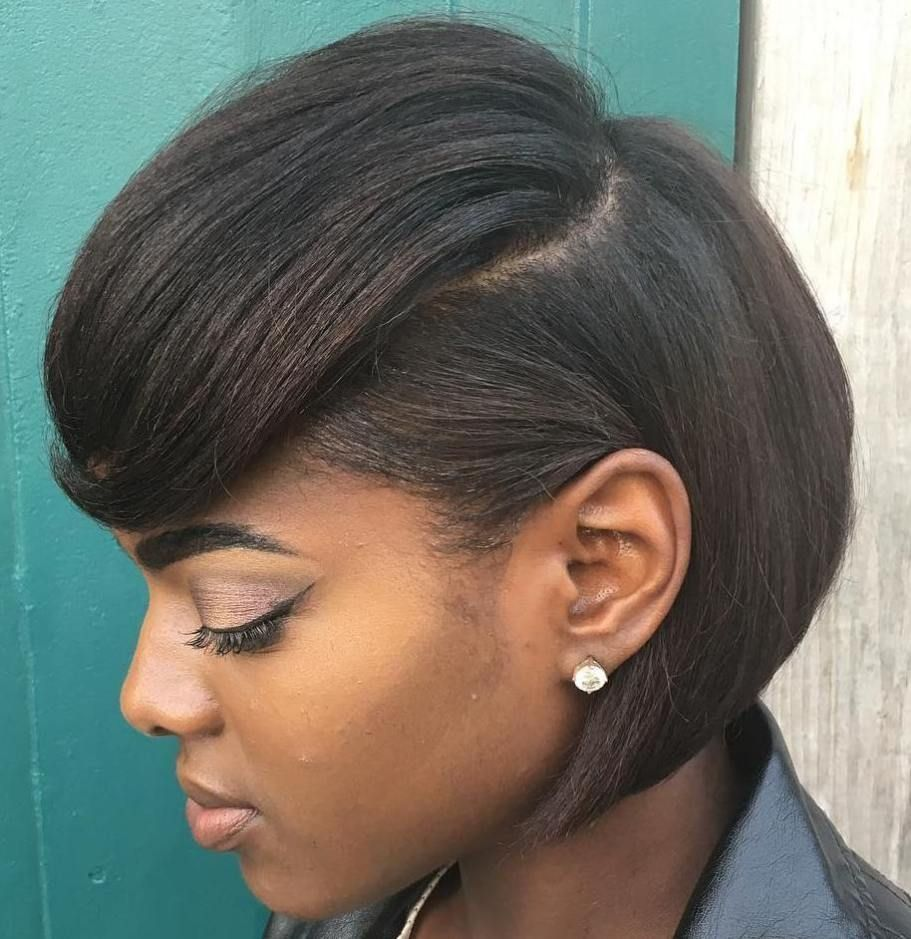 Sleek black bob hairstyle client considerations in