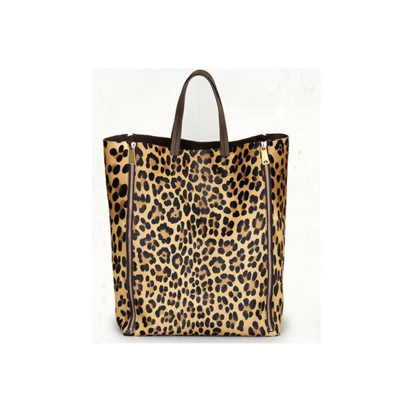 Celine Leopard Bag Found On Polyvore Featuring Women S Fashion Bags Handbags