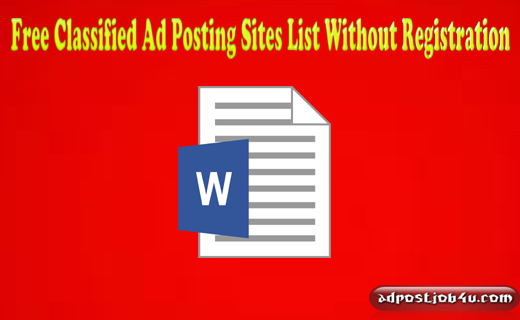 Free Classified Site List Job Posting Sites Free Classified Ads Job Posting