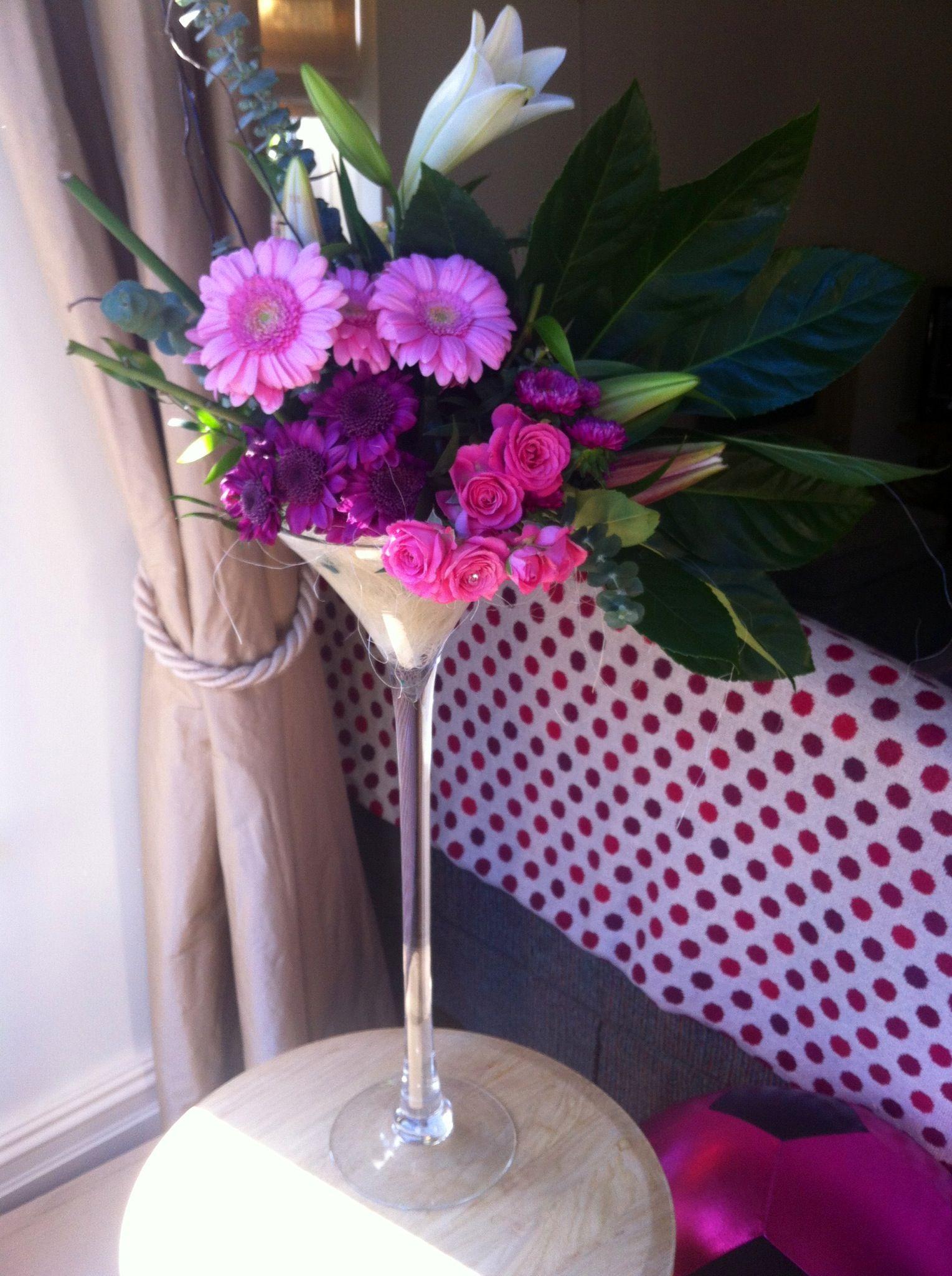 Contemporary floral design martini glass wedding or party centre flower arrangements contemporary floral design martini glass wedding or party centre piece facebook floridaeventfo Images