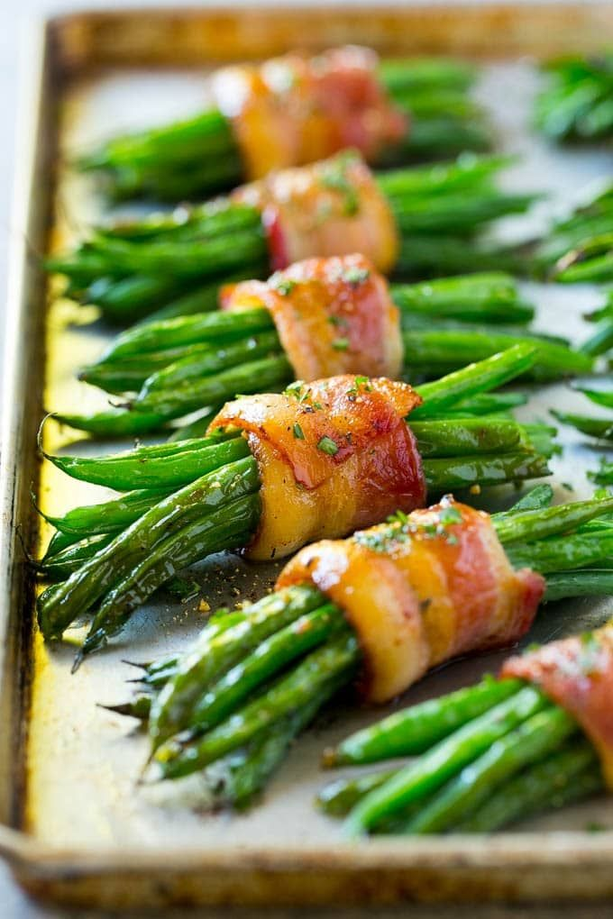 Bacon Green Bean Bundles #foodsides