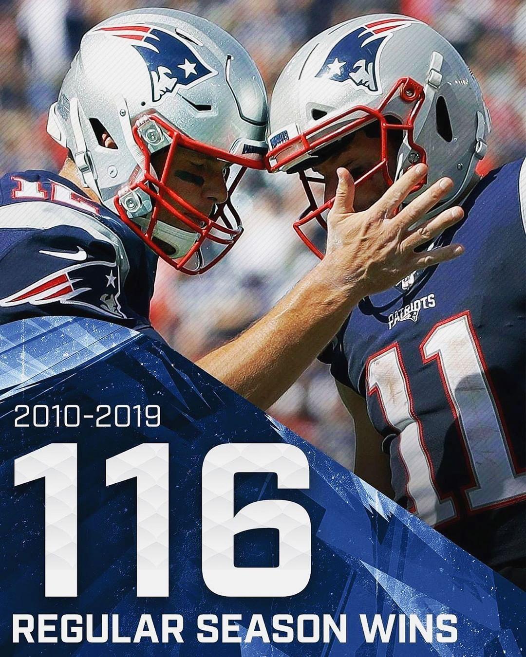 Most Wins In A Decade Stillhere Nfl Patriots Nfl History New England Patriots