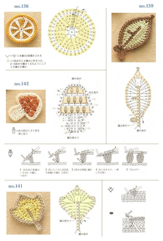Esquemas de frutas, verduras etc. | SexyCrochet.COM | Crochet ...