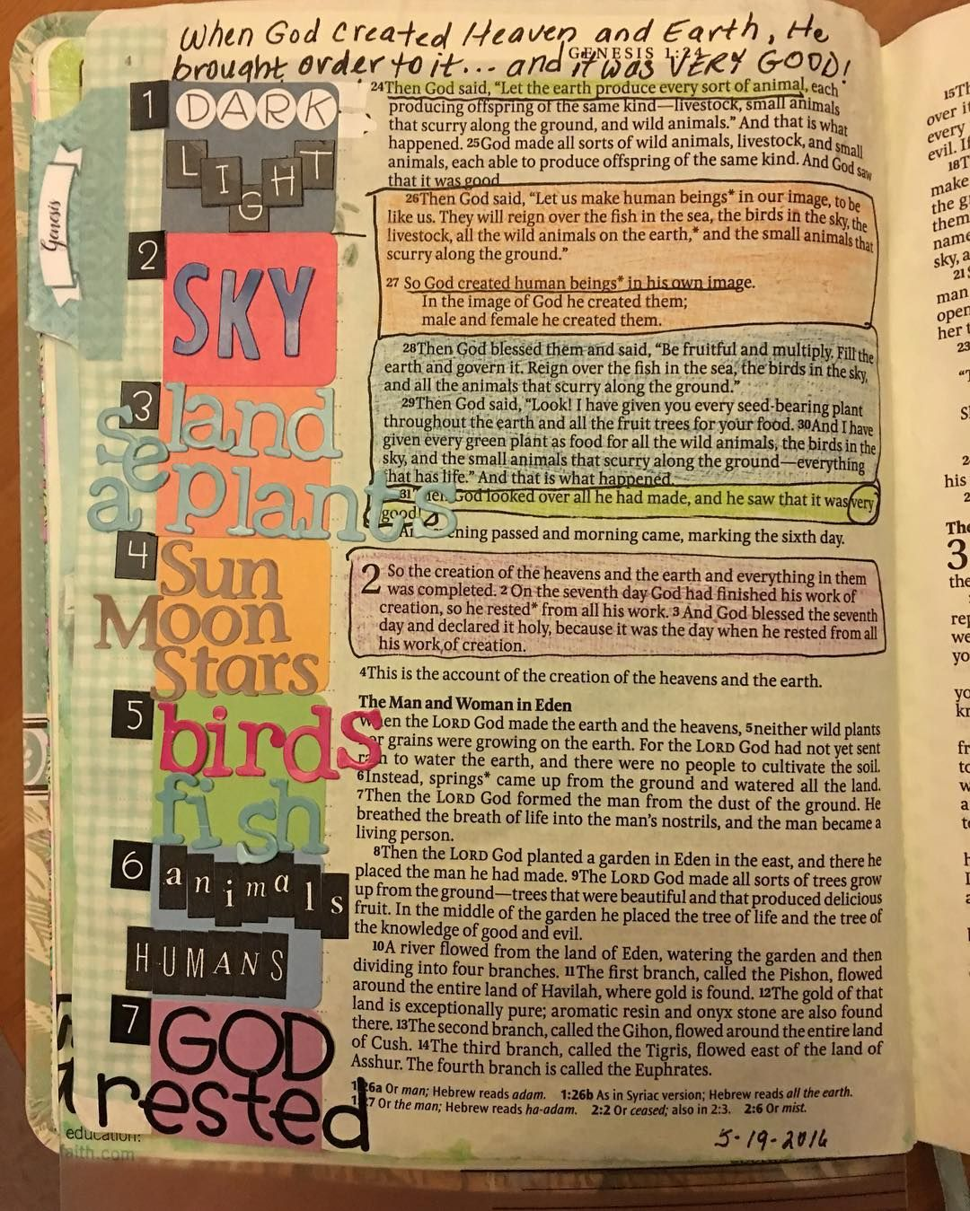 """""""Oh Lord my God when I in awesome wonder consider all the worlds thy hand hath made...then sings my soul How great thou art! How great thou art!"""" #faithjournaling #creation #inspirebible #biblejournaling #journalingbible #howgreatthouart by terikojetin"""
