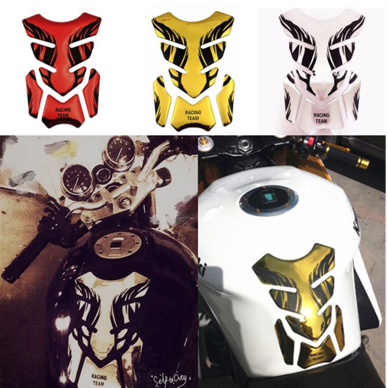 3D Motorcycle Fuel Gel Oil Gas Tank Sticker Decal Pad Protector Cover Universal