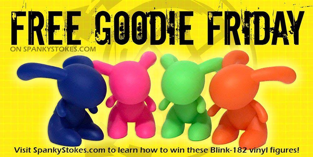 Free Goodie Friday On Spankystokes Win A Full Set Of New Vinyl Blink 182 Bunny Figures Blink 182 Bunny Blink 182 Vinyl Blink 182