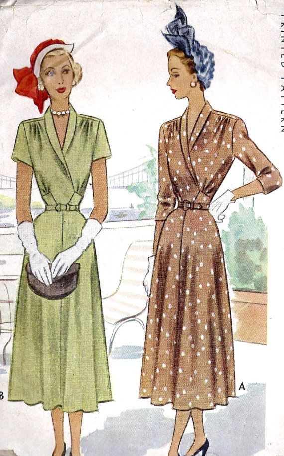 1940s Misses Dress | 1940\'s fashion in 2018 | Pinterest | Vintage ...
