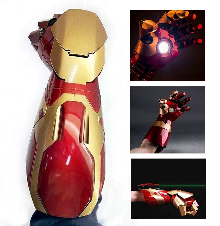 Electronically Iron Man Mk43 Wearable Arc Fx Wrist Armor Gauntlet 1 1 Replica Iron Man Iron Man Armor Ironman Costume