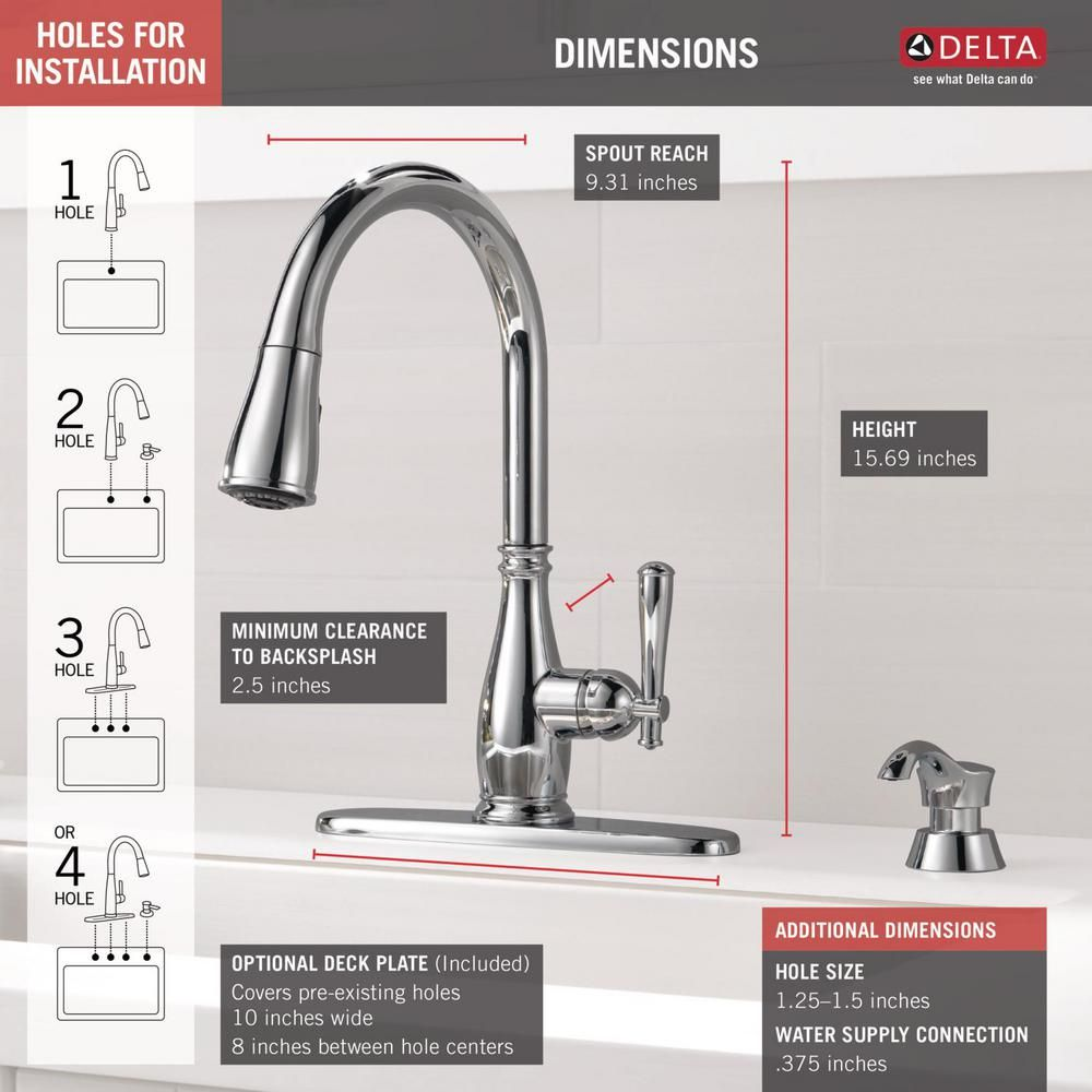 Delta Charmaine Single Handle Pull Down Sprayer Kitchen Faucet With Soap Dispenser And Shieldspray Technology In Stainless In 2020 Kitchen Faucet Soap Dispenser Faucet