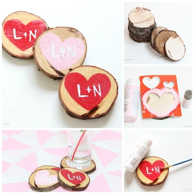 10 DIY VALENTINE GIFT AND HOME DECOR IDEAS 7 | Coasters, Gift and ...