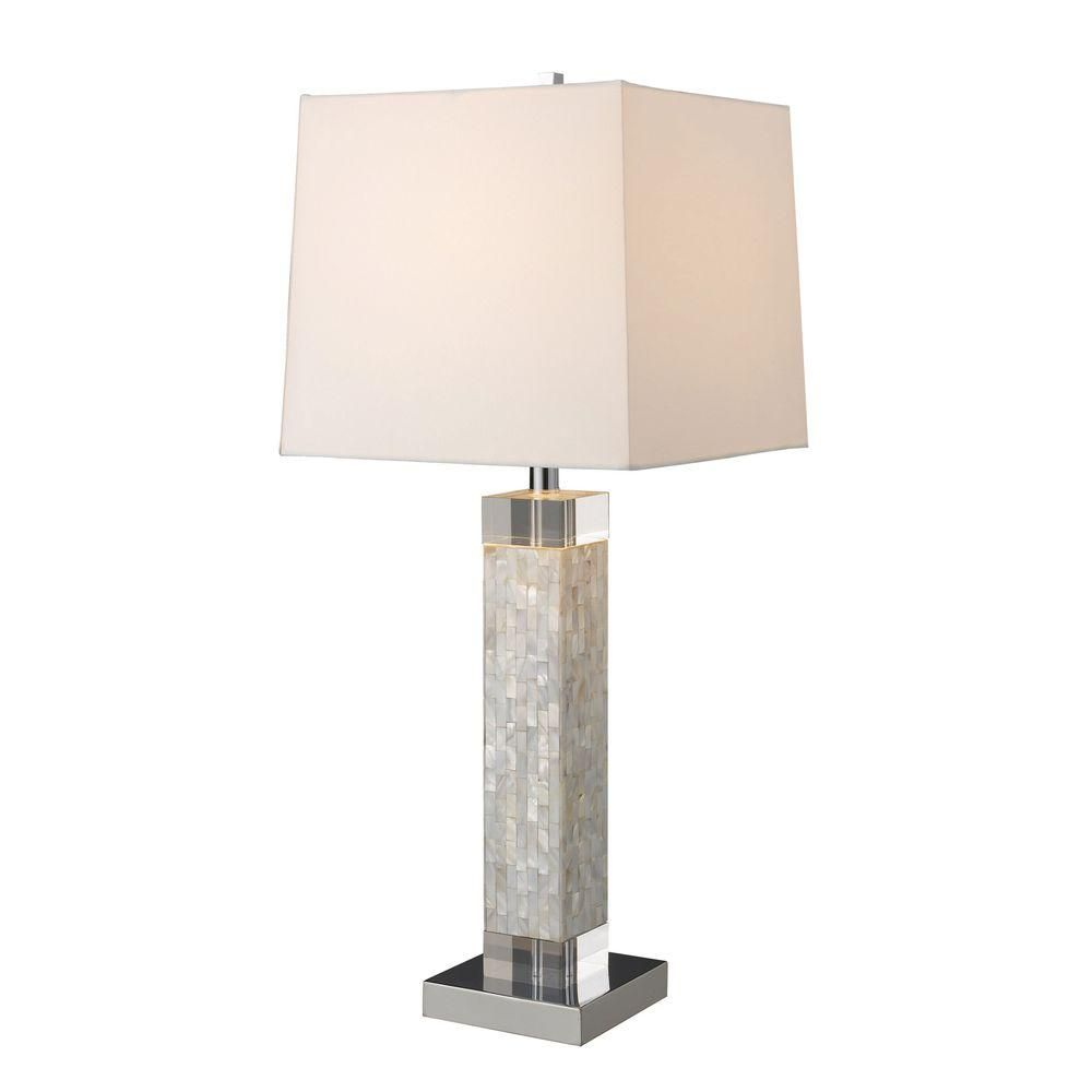 Table Lamps At Home Depot Titan Lighting Luzerne 32 Inmother Of Pearl Table Lamp With Milano