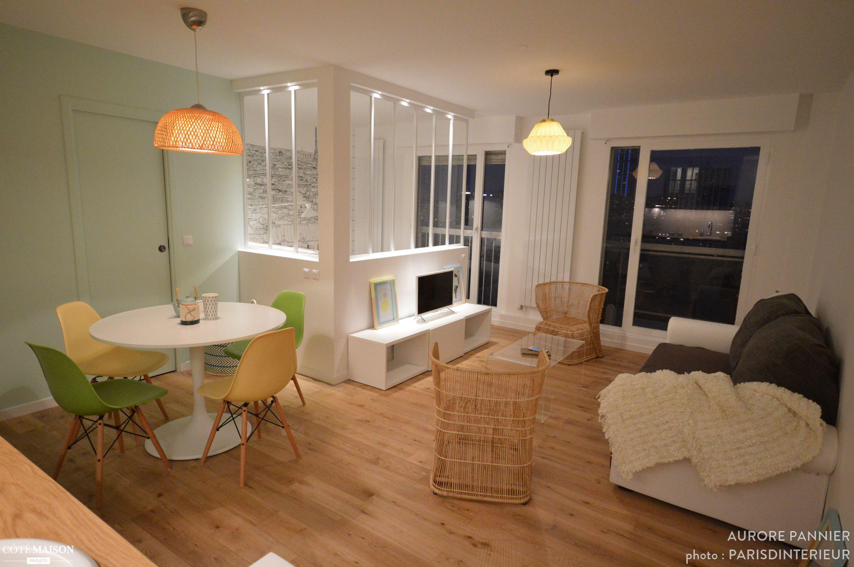 Un appartement années 70 en étage élevé  rénover totalement Les 2