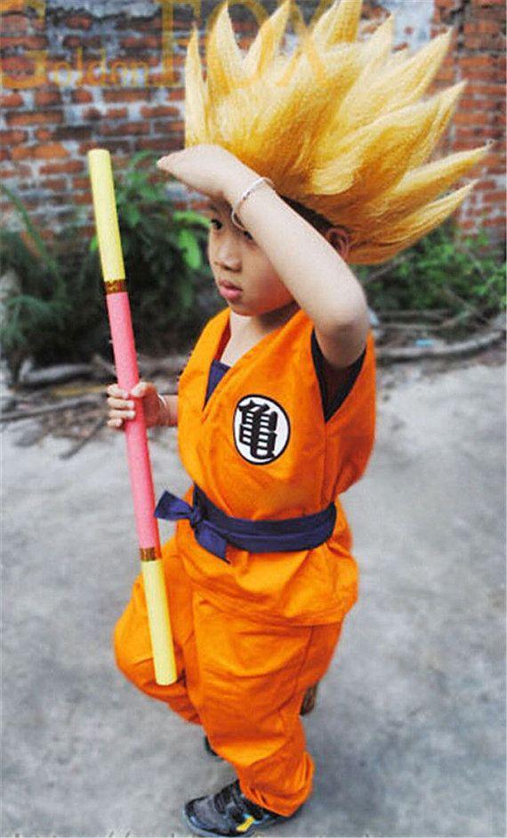 Dragon Ball Z Son Goku Super Saiyan Cosplay Costume Kids Uniform Coat Pant Belt Wristbands Tail Wig Saiyan Cosplay Goku Super Saiyan Carnival Costumes