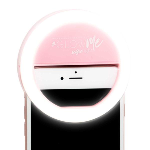 Makeup Ring And Lights: GlowMe LED Selfie Ring Light For Smartphones (in Black