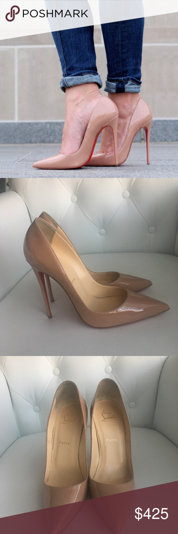 new concept 15b5a 44594 Christian Louboutin So Kate Nude UK 40 💯 Authentic ...