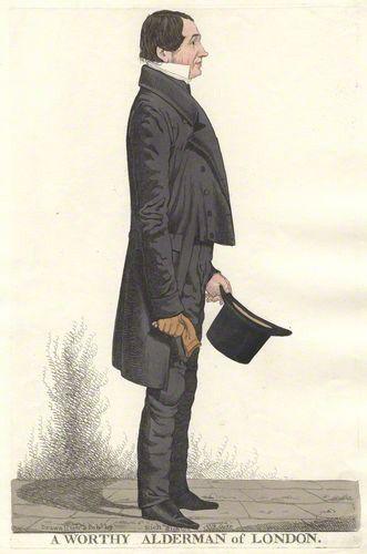 Richard Dighton (1795-1880)  Title  English: A worthy alderman of London  Datepublished October 1819 #englishdresses1880