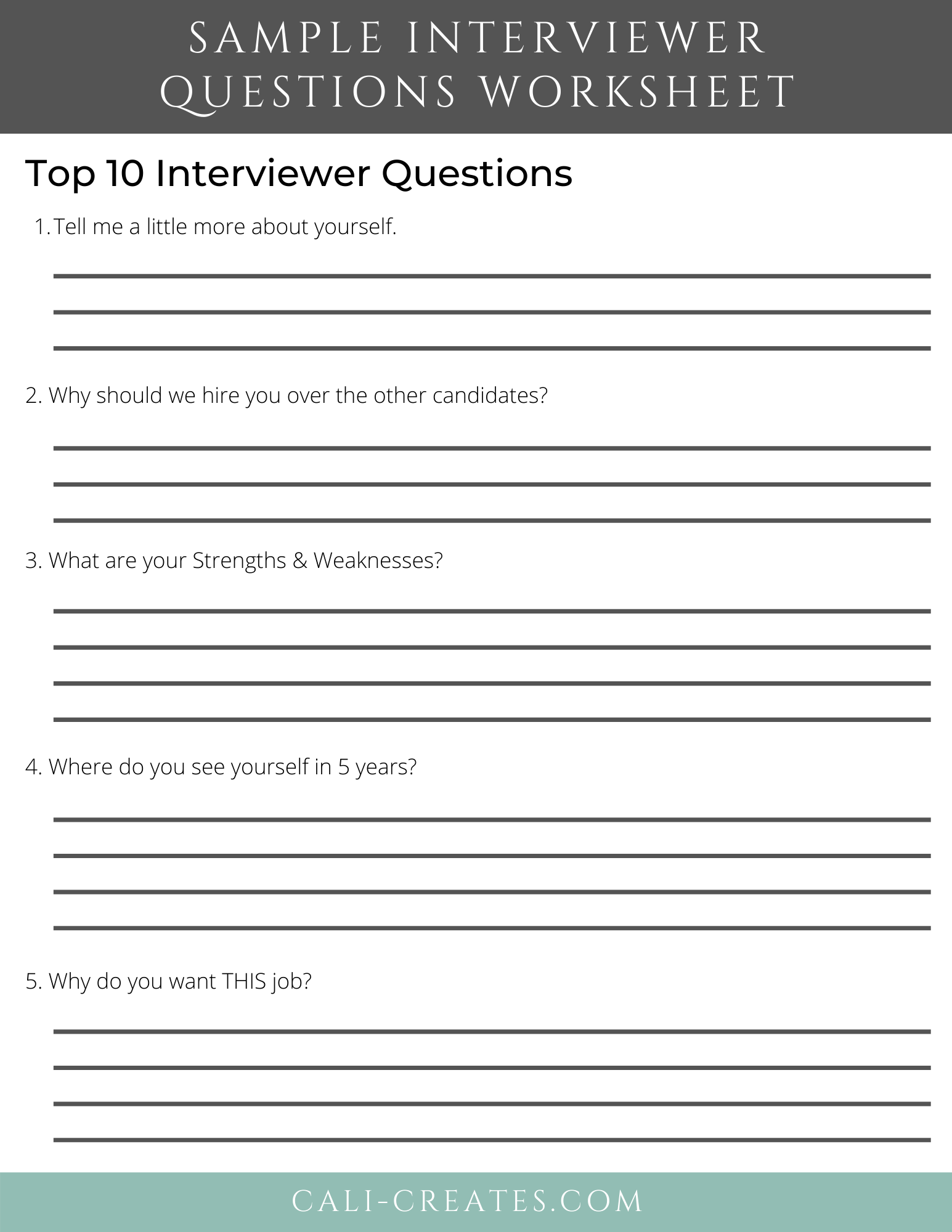 How To Nail A Job Interview In