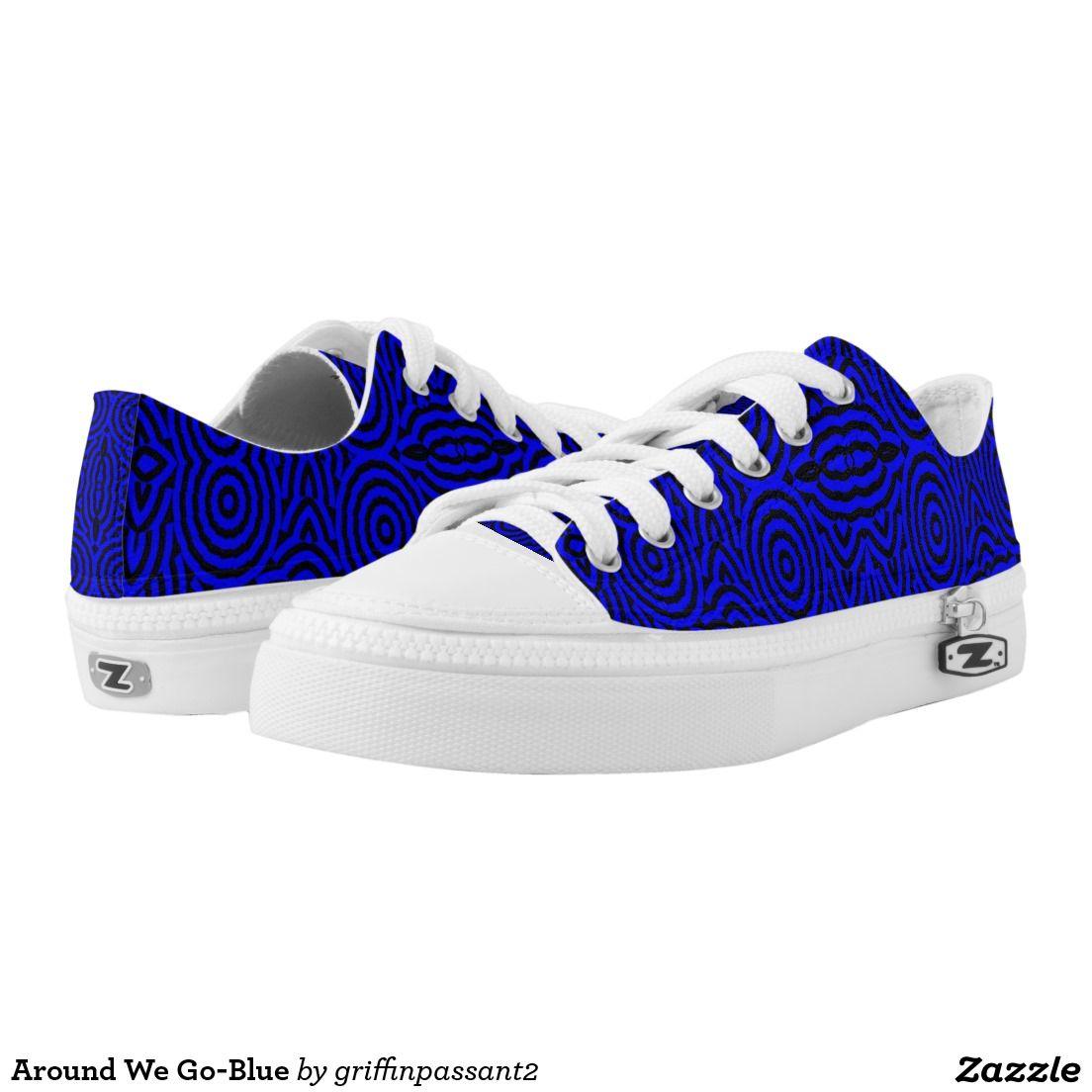 Around We Go-Blue Printed Shoes