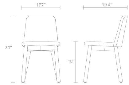 Chip Dining Chair  Modern Dining Chair  Blu Dot  Dining Chairs New Standard Dining Room Chair Dimensions Design Inspiration
