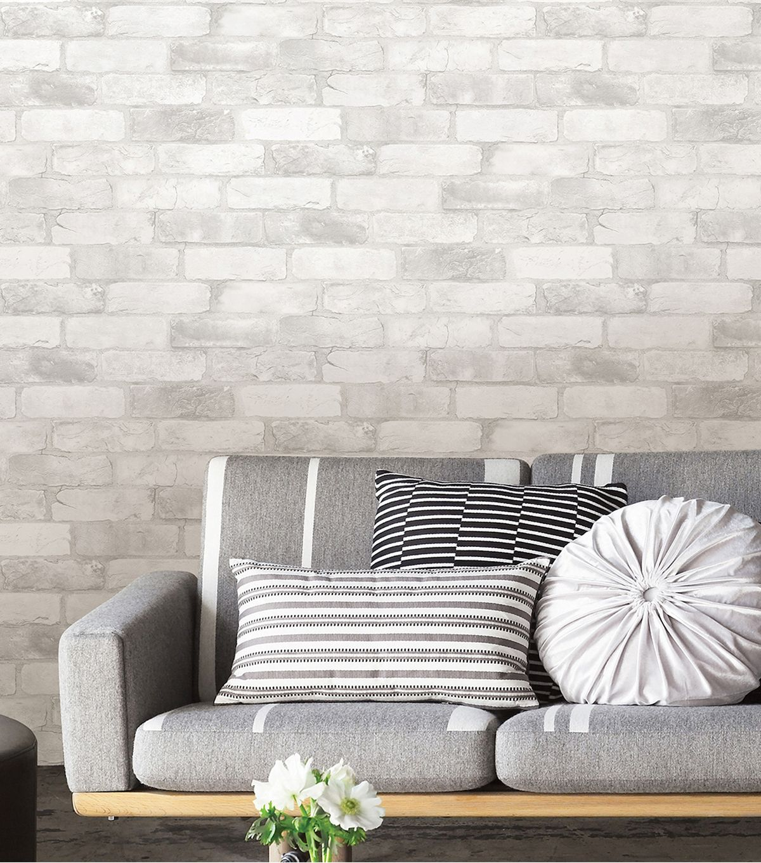 Wallpops Nuwallpaper 3d Peel Stick Wallpaper Brick Joann Removable Brick Wallpaper White Brick Peel And Stick Wallpaper