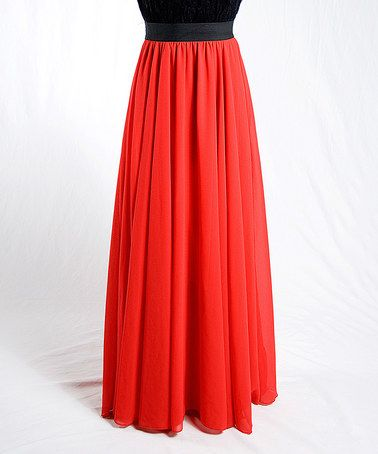 Look what I found on  zulily! Red Maxi Skirt - Women   Plus ... 1cc155af12