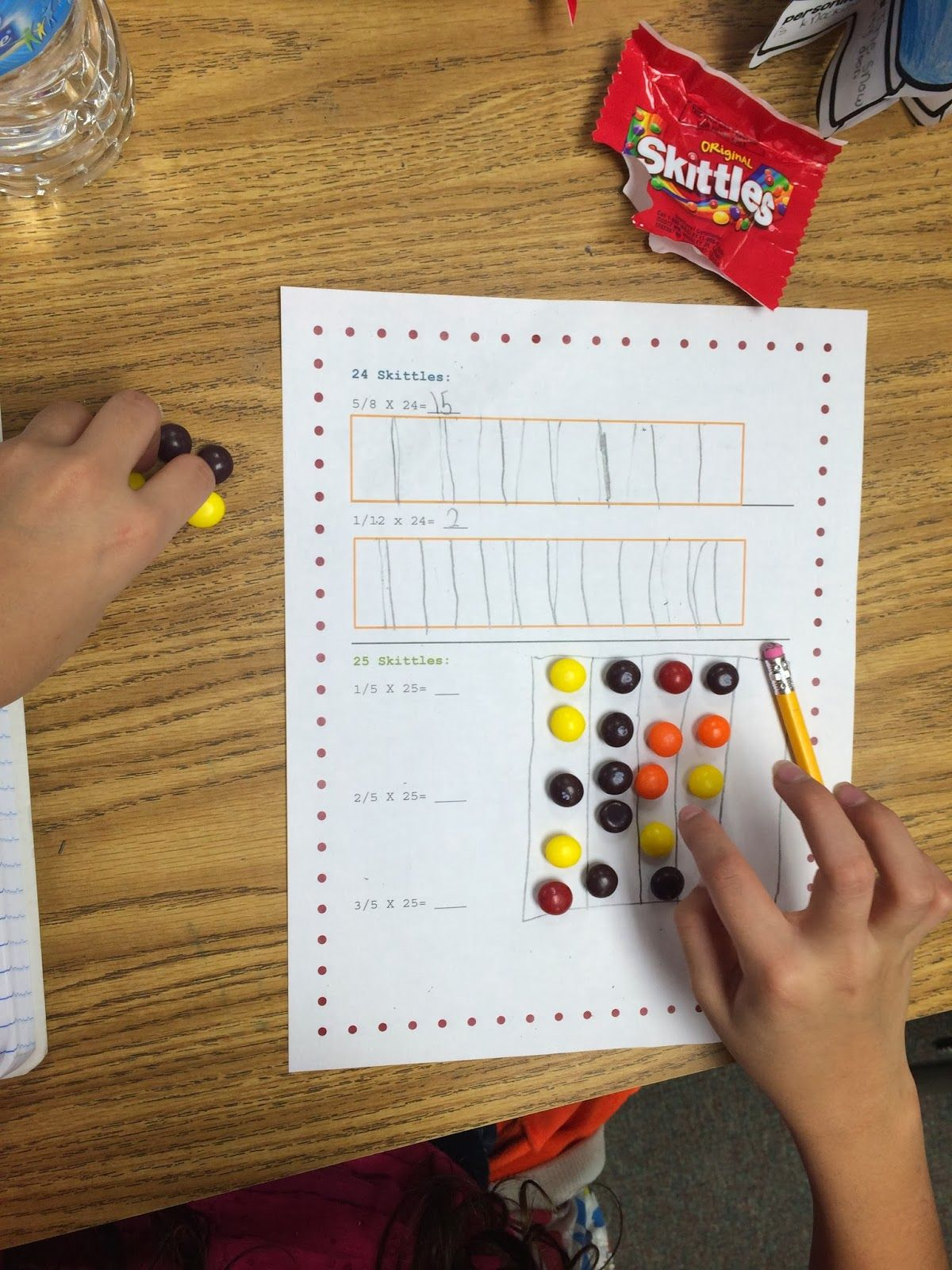 Ideas By Jivey Skittles And Fractions What S 1 5 Of 20