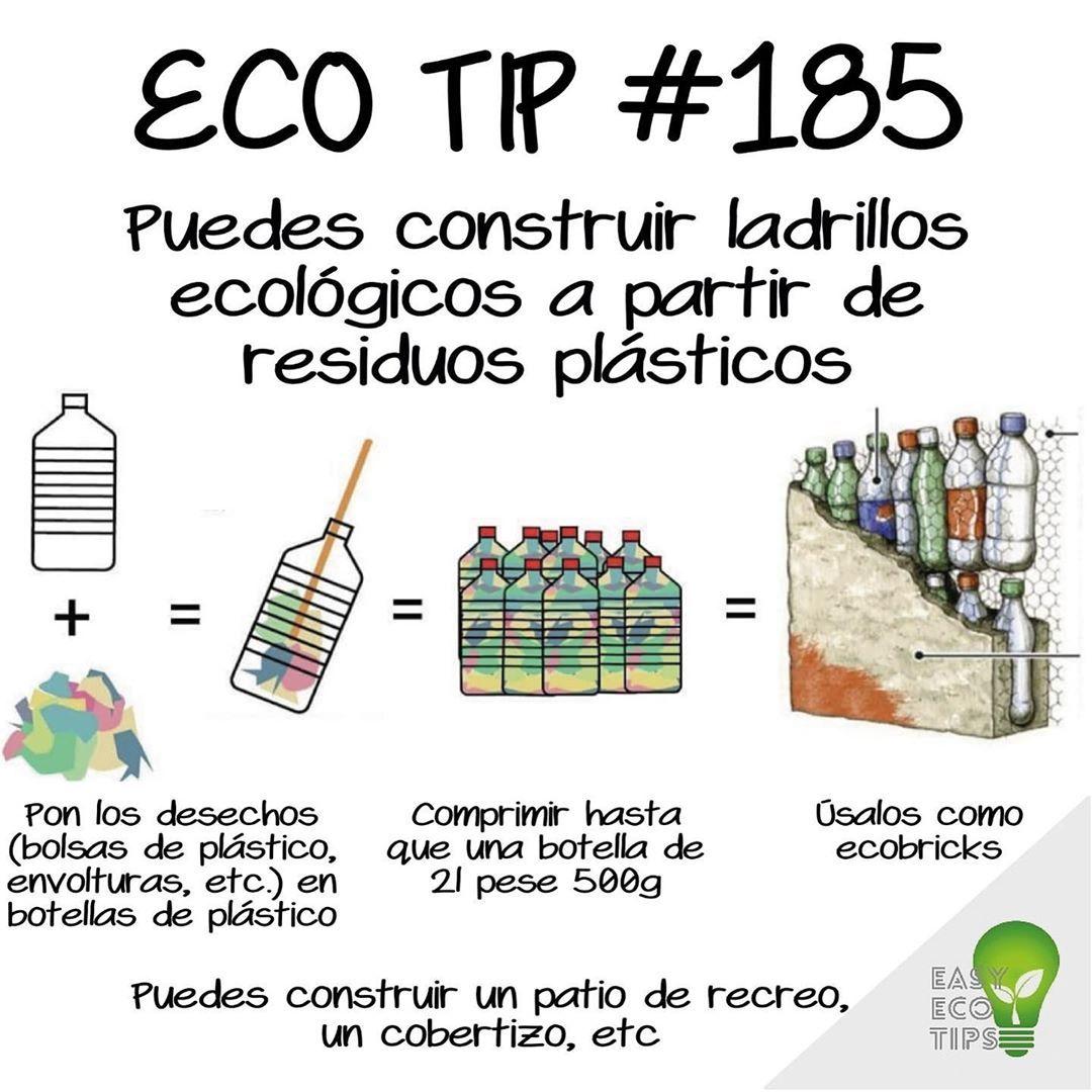 Construye Ladrillos Ecológicos A Partir De Residuos Plásticos Ladrillo Ecologico Vida Sustentable Patios De Recreo