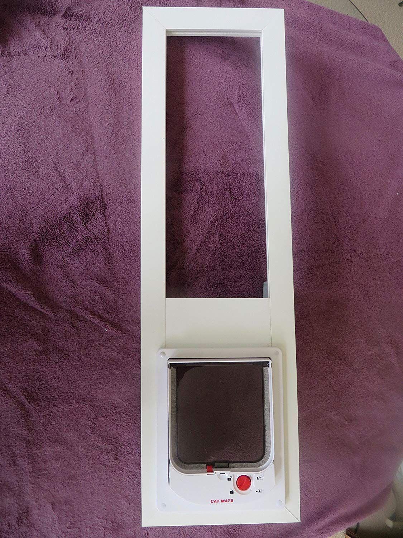 Cat door vertical window 2532 high 6 x 6