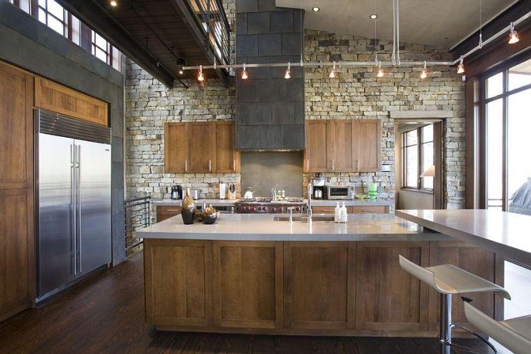 Déco pierre pour les murs de la cuisine en 49 exemples | Design ...