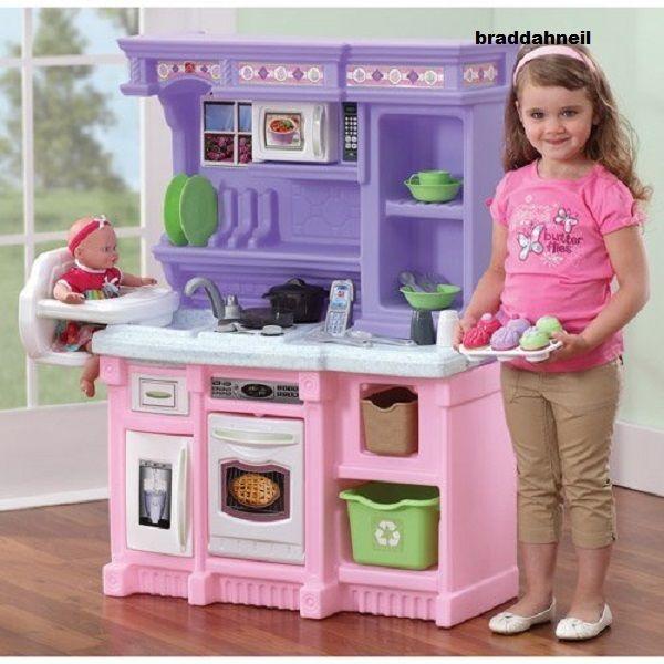 Little Kid Kitchen Play Sets Kids Pretend Girls Toys Cooking Set