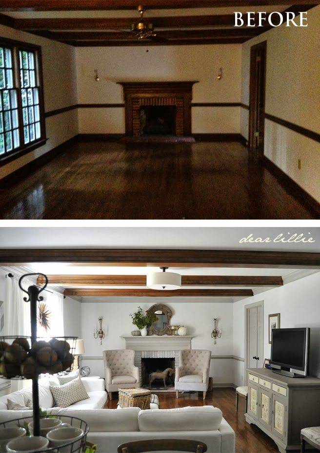 Dear Lillie Family Room Amazing Transformation Simply