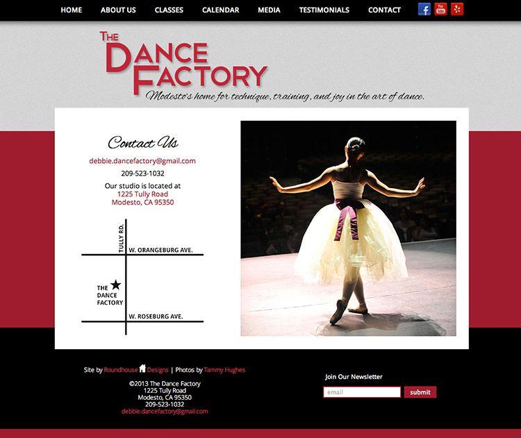 Site Launch The Dance Factory Roundhouse Designs Creative Web Design Web Design Design