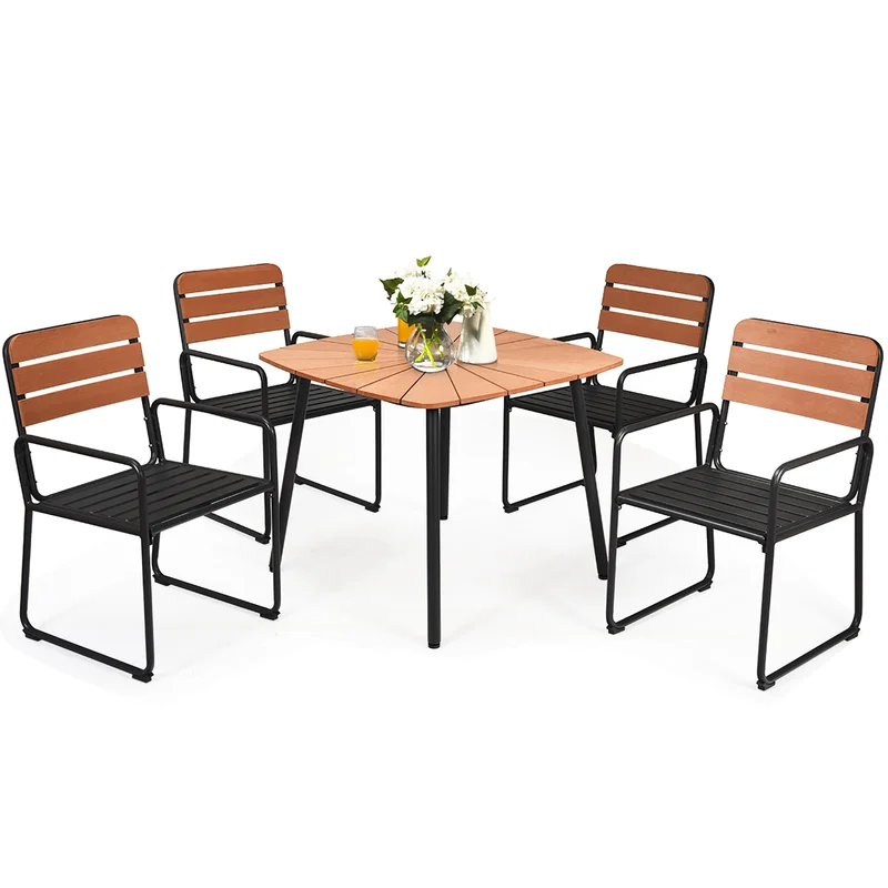 Overbeck Outdoor 5 Piece Dining Set Patio Dining Table Patio Dining Dining Table Setting
