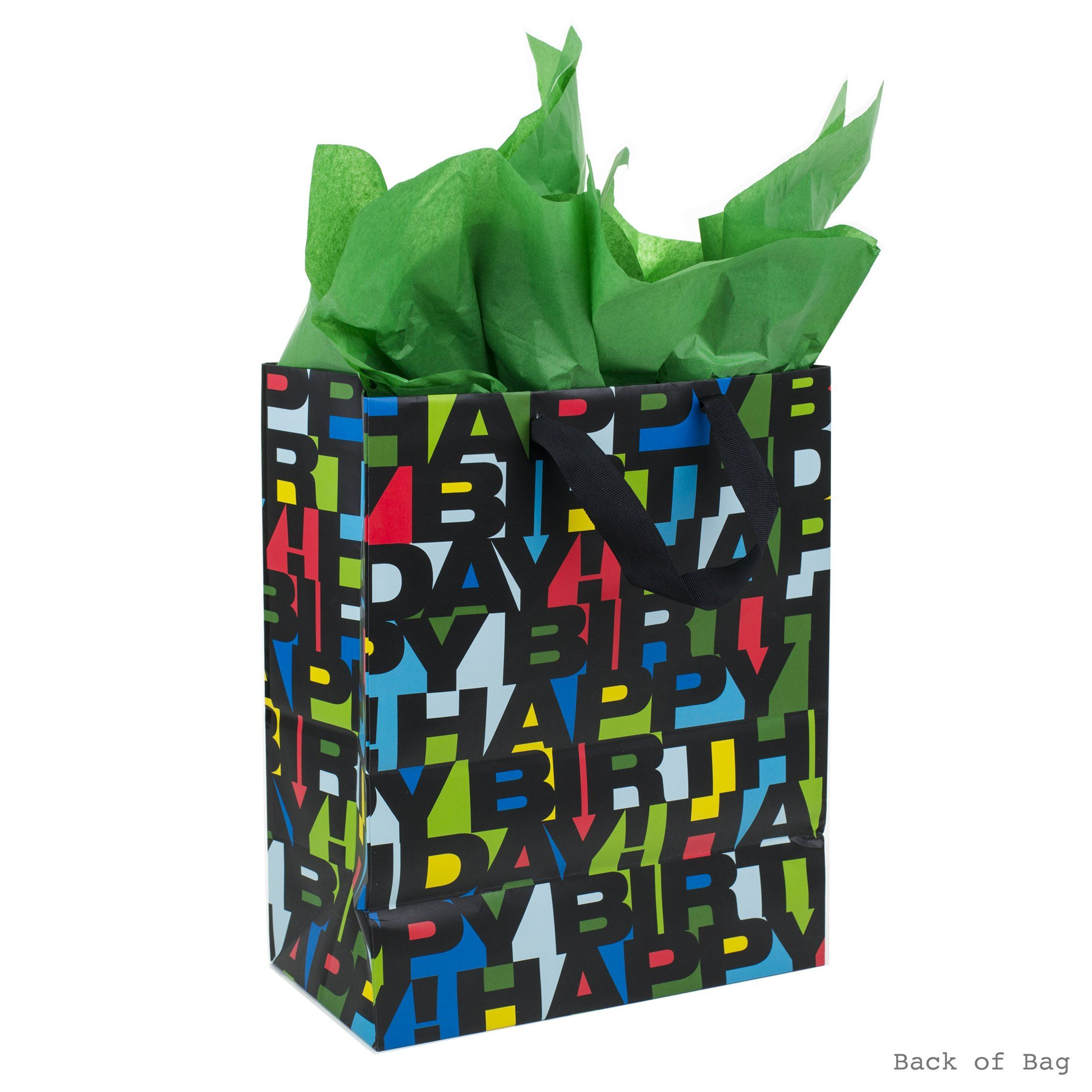Hallmark Large Birthday Gift Bag With Tissue Paper Black Letters Click On The Image For Additional DetailsIt Is Amazon Affiliate Link