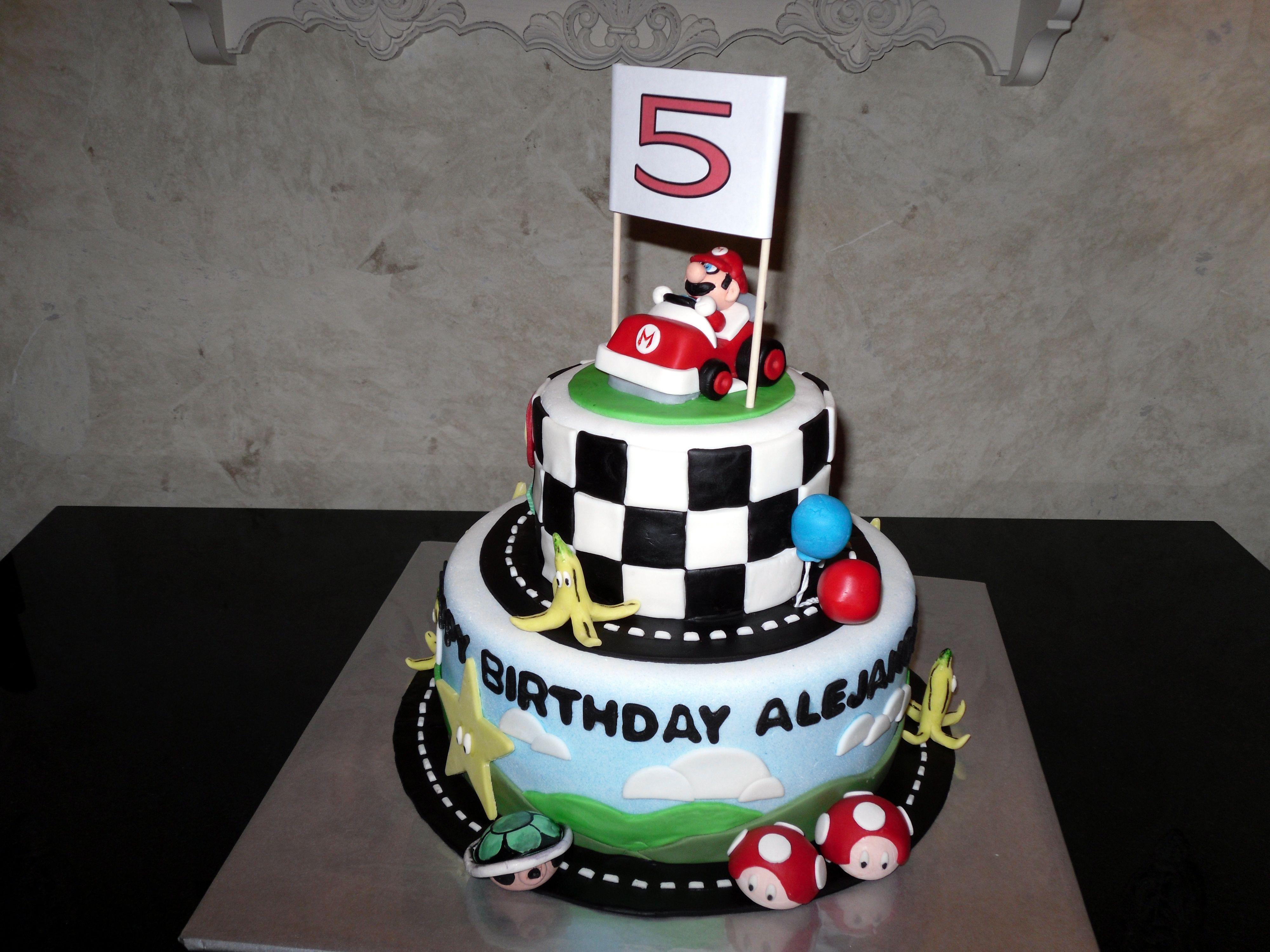 Mario Kart Birthday Cake Birthdays Pinterest Mario kart