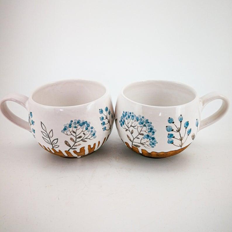 Colored Pottery Dinnerware Set Mug And Plate Pottery Dinner Plate Set Handmade Ceramic Plates Osoka Art Ceramic Mug Plate Set Gift In 2020 Handmade Ceramics Plates Handmade Ceramics Ceramic Plates
