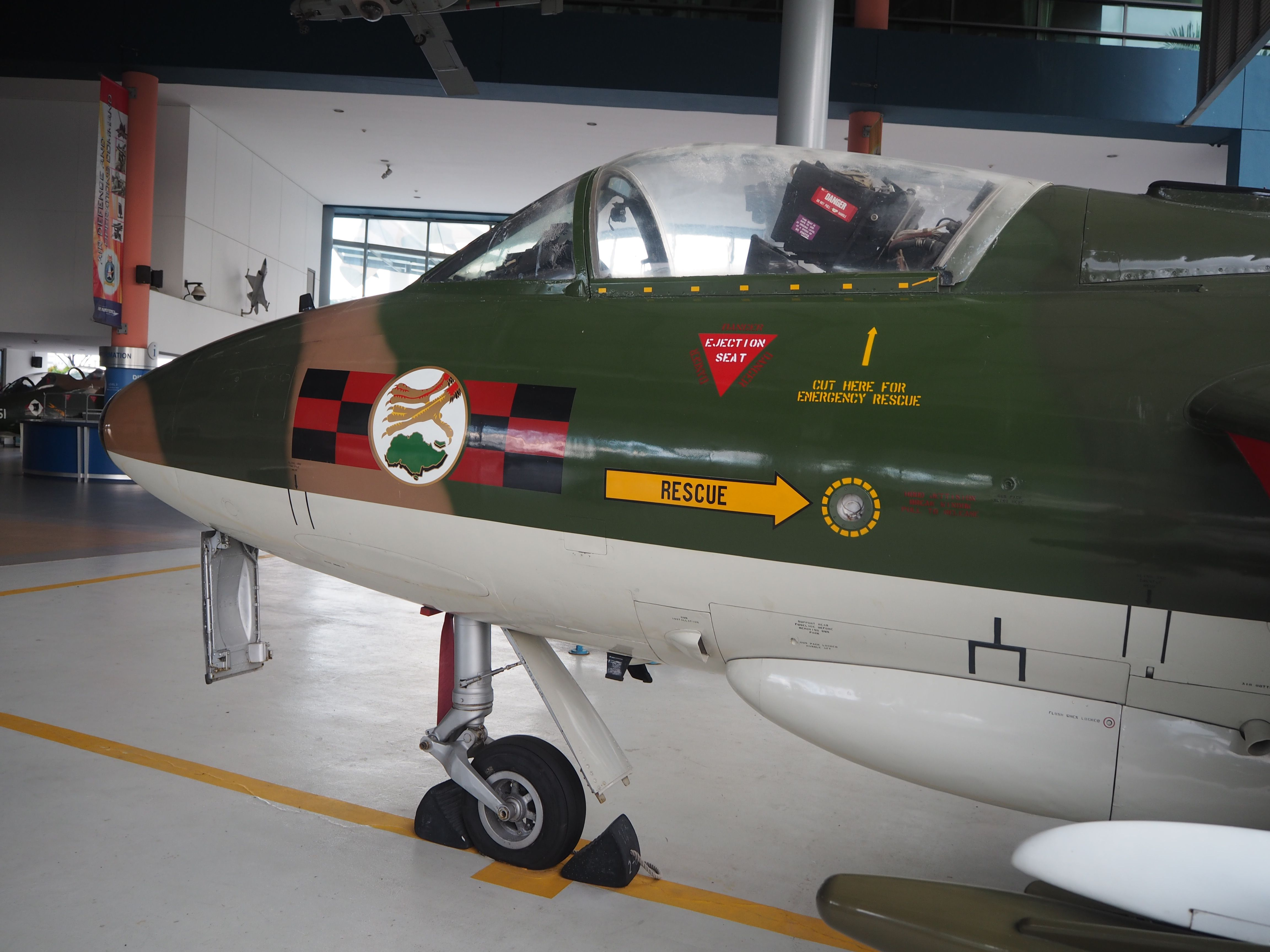Hawker Hunter of the RSAF 140 Squadron, seen in the