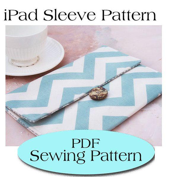 iPad Sleeve Pattern , iPad Case Pattern, iPad Cover PDF Sewing ...